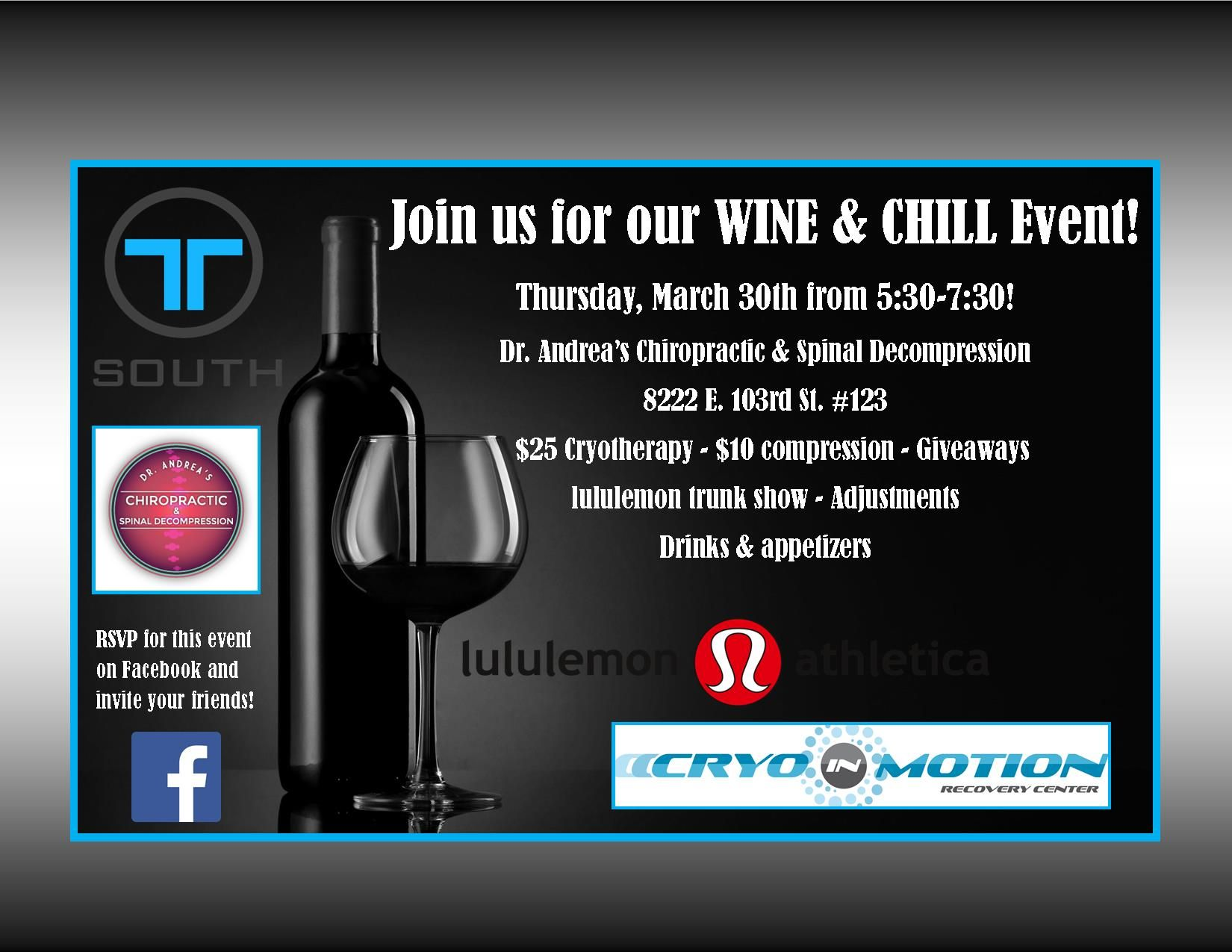 Wine & Chill Event Flyer